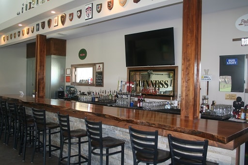 Clean bar counter Inside Blaze Clubhouse