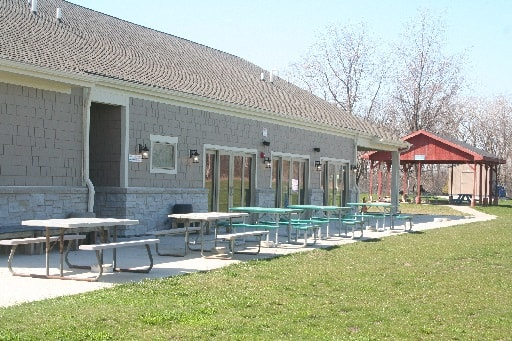 Tables and Chairs for outdoor events - Outside Blaze Clubhouse